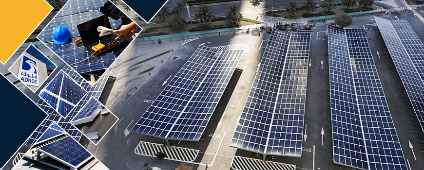 Solar Car Parking Systems for ADNOC Old HQ Parking Area